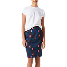 Buy Jigsaw Oval Geo Pencil Skirt, Navy Online at johnlewis.com