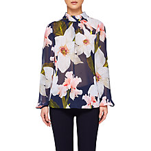 Buy Ted Baker Tily Chatsworth Bloom Blouse, Navy Online at johnlewis.com