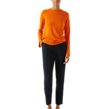 Buy Jigsaw Merino Crew Neck Jumper, Orange Zest Online at johnlewis.com