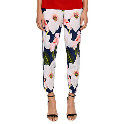 Ted Baker Aiimy Chatsworth Bloom Tapered Trousers, Navy