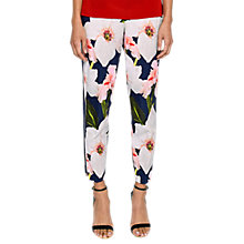 Buy Ted Baker Aiimy Chatsworth Bloom Tapered Trousers, Navy Online at johnlewis.com