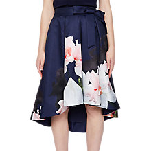 Buy Ted Baker Thali Chatsworth Midi Skirt, Navy/Multi Online at johnlewis.com