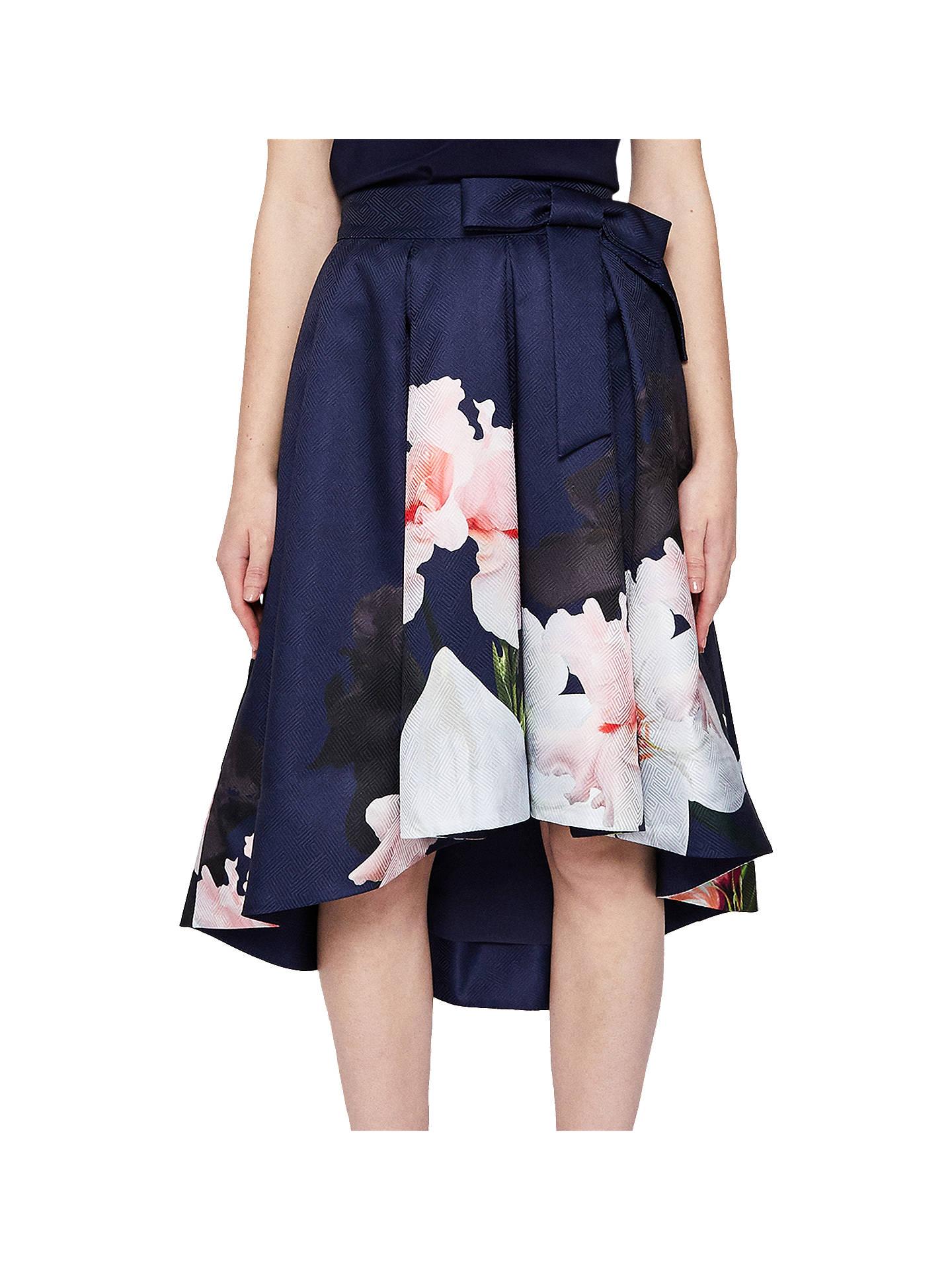 2b23f1d20 Buy Ted Baker Thali Chatsworth Midi Skirt, Navy/Multi, 0 Online at  johnlewis ...