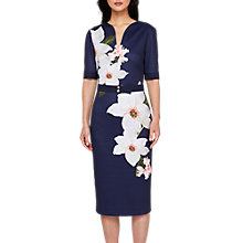 Buy Ted Baker Izeebel Chatsworth Bloom Dress, Navy Online at johnlewis.com