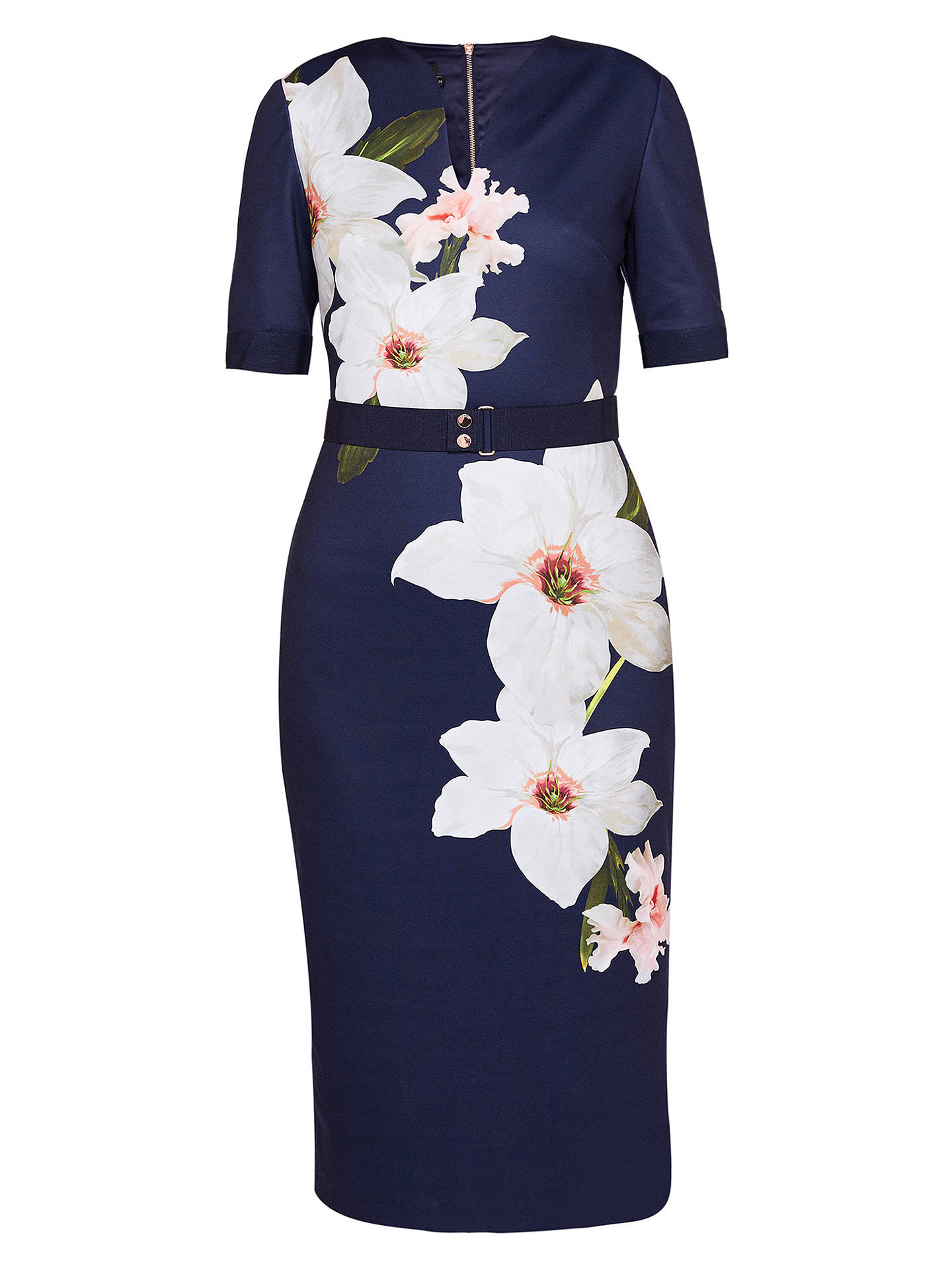 Buy Ted Baker Izeebel Chatsworth Bloom Dress, Navy, 0 Online at johnlewis.com