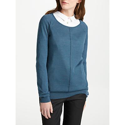 Numph Atia Merino Wool Blend Pullover, Majolica Blue
