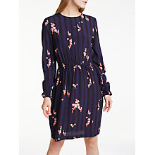 Buy Y.A.S Virona Long Sleeve Dress, Blue/Multi Online at johnlewis.com