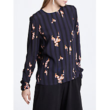 Buy Y.A.S Virona Printed Top, Blue/Multi Online at johnlewis.com