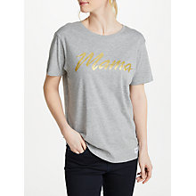Buy Selfish Mother Mama 80s T-Shirt, Grey/Faded Gold Online at johnlewis.com