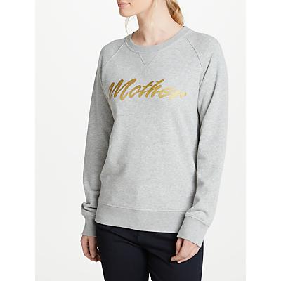 Selfish Mother Mother 80s Crew Neck Sweatshirt, Grey/Gold