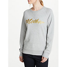 Buy Selfish Mother Mother 80s Crew Neck Sweatshirt, Grey/Gold Online at johnlewis.com