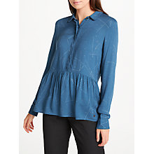 Buy Numph Nansy Shirt, Majolica Blue Online at johnlewis.com