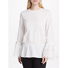 Buy Y.A.S Nova Long Sleeve Blouse, White Online at johnlewis.com