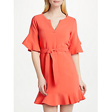 Buy SUNCOO Candice Flounce Dress, Coral Online at johnlewis.com
