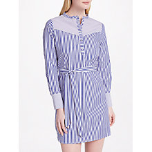 Buy SUNCOO Camelia Stripe Shirt Dress, Blue Online at johnlewis.com