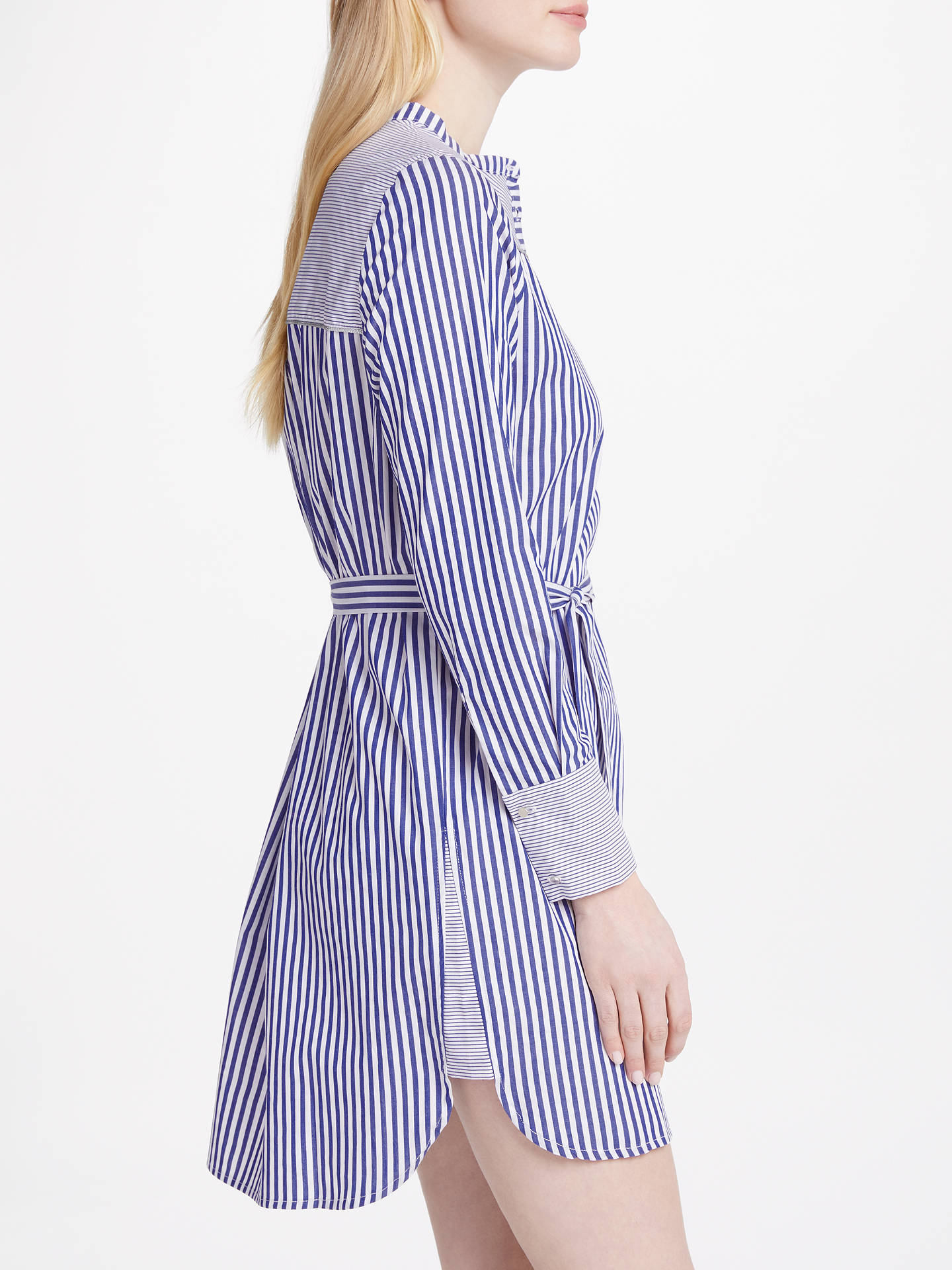BuySUNCOO Camelia Stripe Shirt Dress, Blue, 8 Online at johnlewis.com