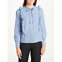 Buy Numph Arzilla Blouse, Baby Blue Online at johnlewis.com