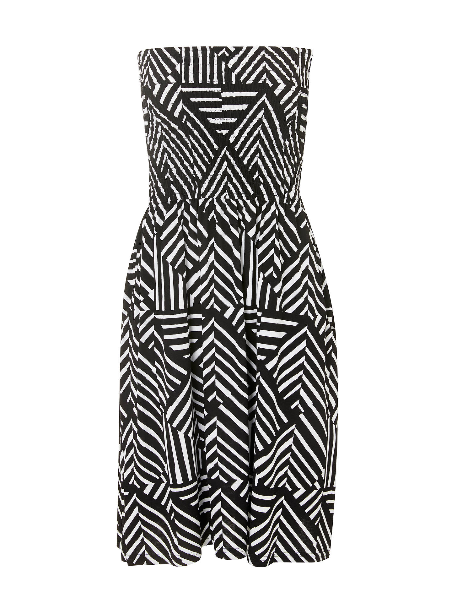Buy John Lewis & Partners Diamond Geo Print Bandeau Jersey Dress, Black/Multi, S Online at johnlewis.com