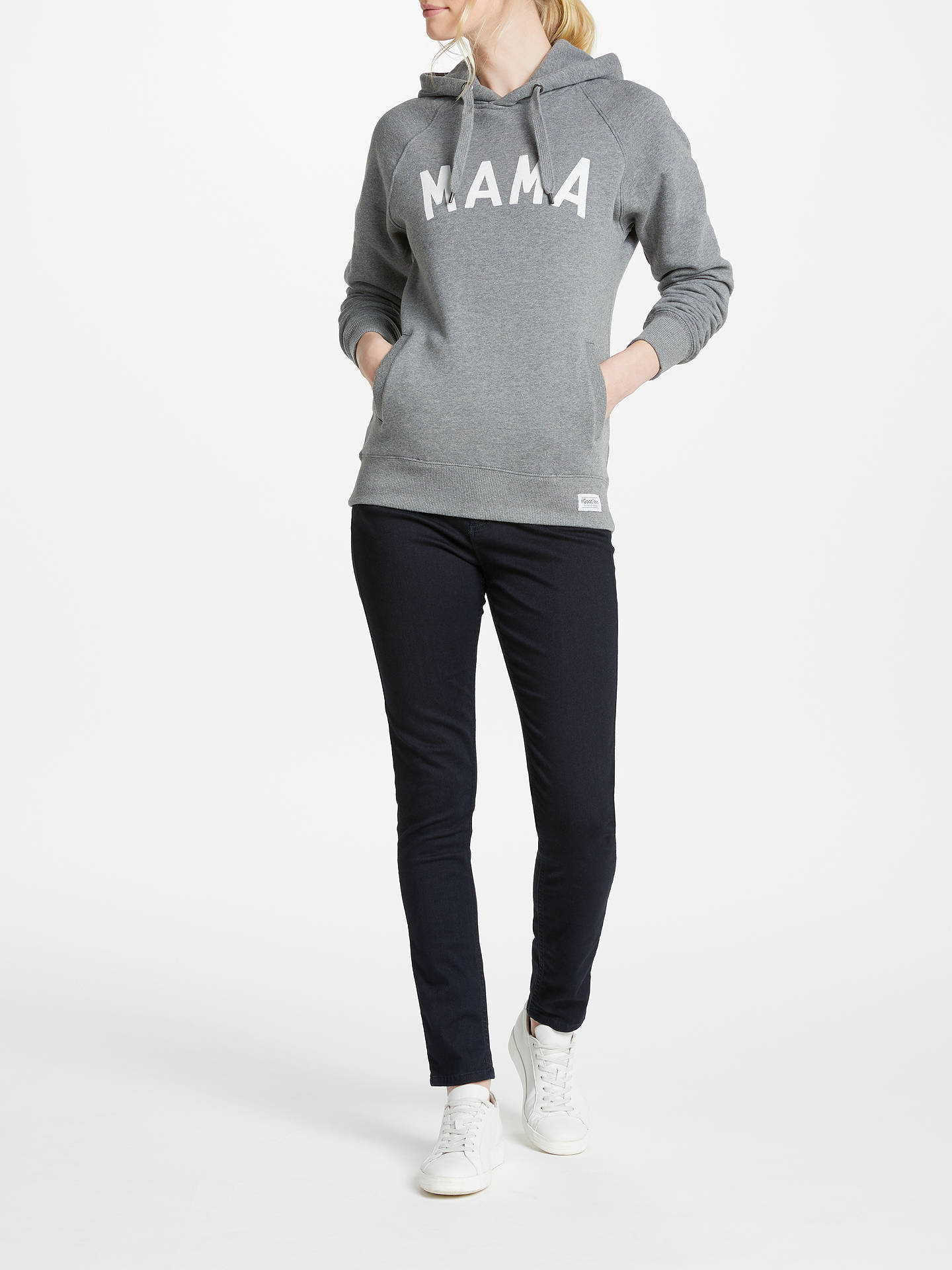 Buy Selfish Mother Mama Hoodie, Grey/White, S Online at johnlewis.com