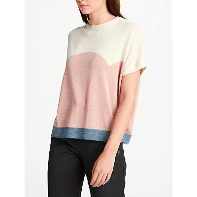 Numph New Darlene Knitted Top, Pastel Rose Tan