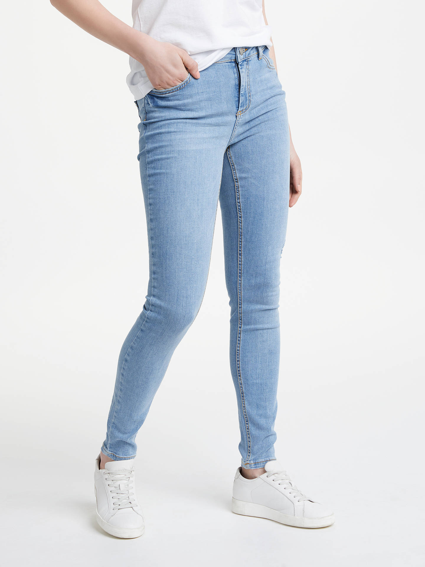 4be70697375221 Buy Pieces Five Delly Mid Rise Skinny Jeans, Light Blue Denim, XS Online at  ...