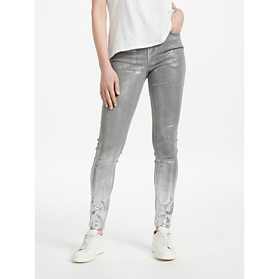 Pieces Five Delly Distressed Skinny Jeans, Dark Grey Denim