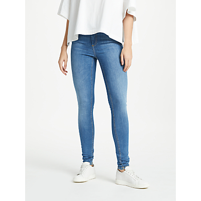 Pieces Five Delly Skinny Jeans, Medium Blue