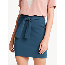 Buy Numph Aisling Tie Front Skirt, Majolica Blue Online at johnlewis.com