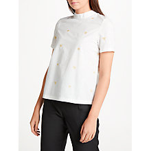 Buy Numph Berenice Blouse, Pristine Online at johnlewis.com
