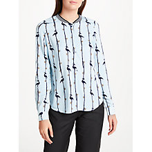 Buy Numph New Brigette Blouse, Baby Blue Online at johnlewis.com