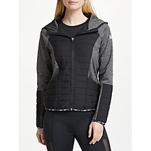 Buy ONLY PLAY Beverly Padded Hoodie, Grey Melange Online at johnlewis.com