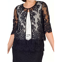 Buy Chesca Scallop Trim Lace Jacket, Black Online at johnlewis.com