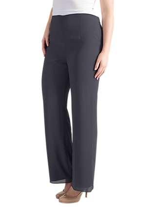 Chesca Satin Trim Chiffon Trousers