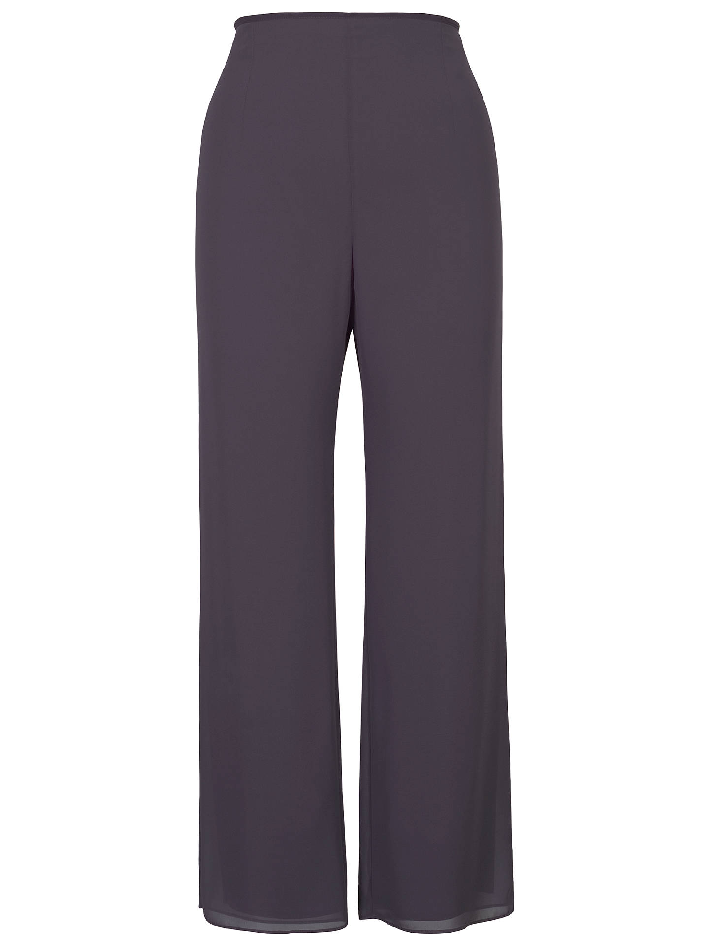 BuyChesca Satin Trim Chiffon Trousers, Pewter, 12 Online at johnlewis.com
