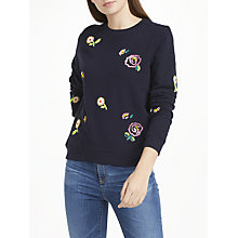Buy Uzma Bozai Kitty Sweatshirt, Navy Online at johnlewis.com