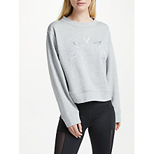 Buy Varley Knoll Sweatshirt, Grey Melange Online at johnlewis.com
