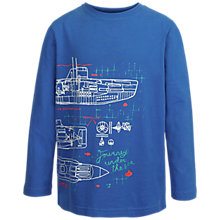 Buy Fat Face Boys' Submarine T-Shirt, Cobalt Blue Online at johnlewis.com