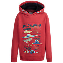 Buy Fat Face Boys' Build a Board Popover Hoodie, Red Online at johnlewis.com