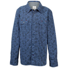 Buy Fat Face Boys' Newton Bicycle Print Shirt, Slate Blue Online at johnlewis.com
