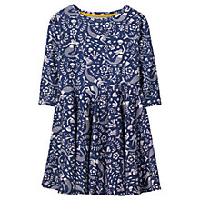 Buy Mini Boden Girls' Twirly Mermaid Jersey Dress, Blue Online at johnlewis.com