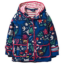 Buy Mini Boden Girls' Printed Anorak Coat, Blue Online at johnlewis.com