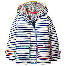 Buy Mini Boden Girls' Printed Anorak Coat, Navy Online at johnlewis.com