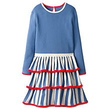 Buy Mini Boden Girls' Circus Stripe Knitted Dress, Blue Online at johnlewis.com