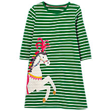 Buy Mini Boden Girls' Applique Dress, Green Online at johnlewis.com