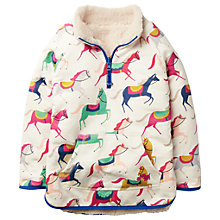 Buy Mini Boden Girls' Reversible Teddy Sweatshirt, Pink/Multi Online at johnlewis.com