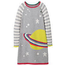 Buy Mini Boden Girls' Fun Knitted Planet Dress, Grey Online at johnlewis.com