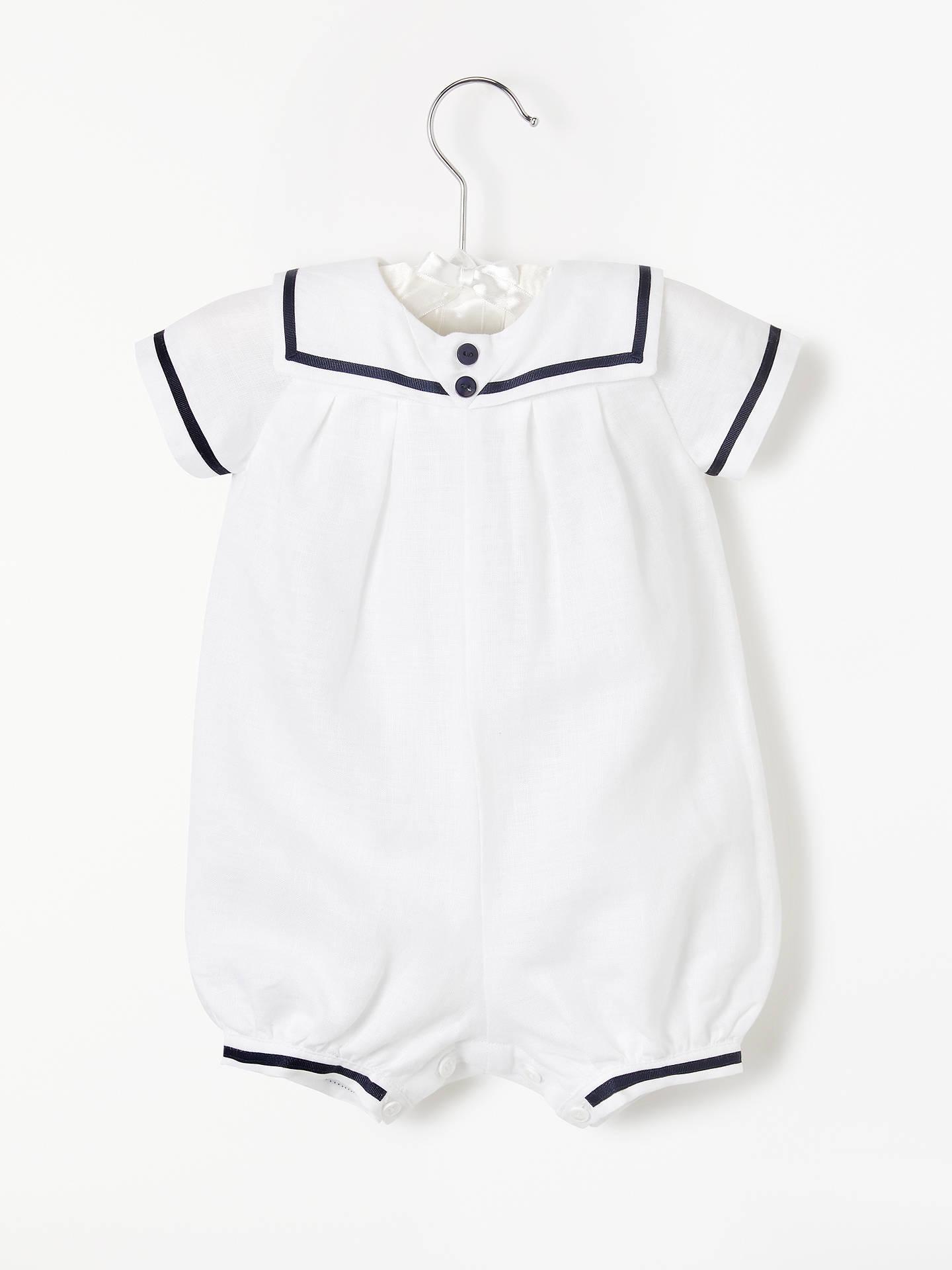63a005463e1 Buy John Lewis   Partners Baby Linen Sailor Romper