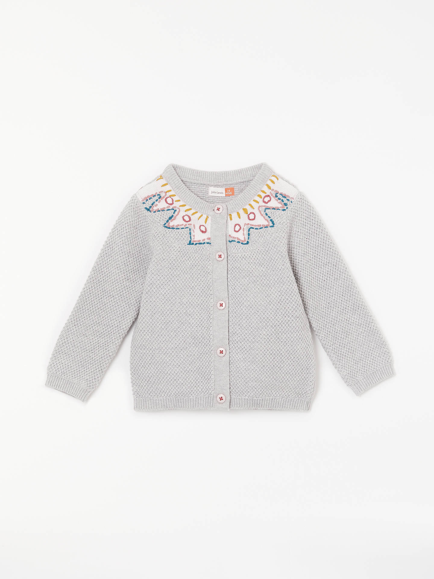 36d74a86f John Lewis   Partners Baby Embroidery Cardigan