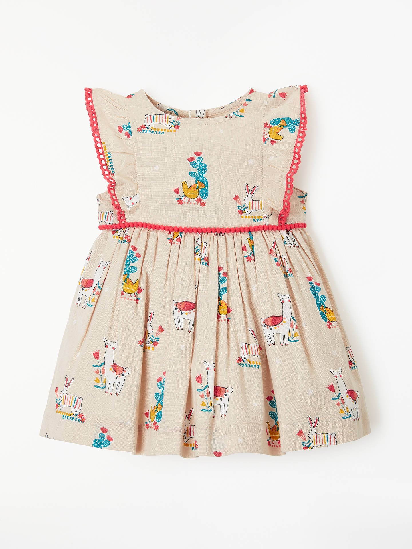 BuyJohn Lewis & Partners Baby Llama and Friends Dress, Multi, 0-3 mths Online at johnlewis.com