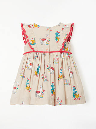 Buy John Lewis & Partners Baby Llama and Friends Dress, Multi, 2-3 yrs Online at johnlewis.com